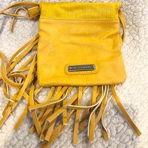 Steve madden yellow Fringe cross body bag